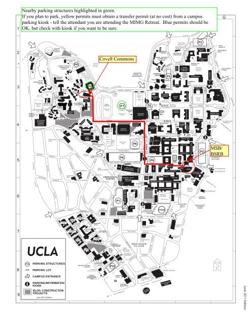 MSB/ BSRB Covell Commons Nearby parking structures     - UCLA