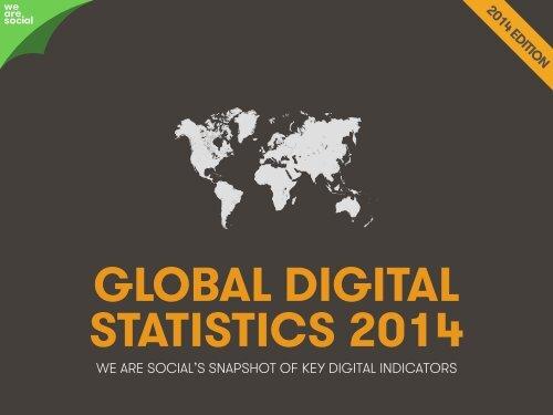 Global Social, Digital & Mobile Statistics, Jan 2014