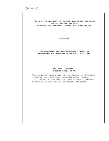 Government Transcript of the 8/12/99 Workshop on ... - Whale