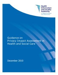 Guidance on Privacy Impact Assessment in Health and ... - hiqa.ie