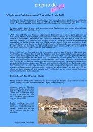 Kurzbericht über unseren Frühjahrstörn 2010