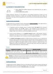 ALLERGENES ET REGLEMENTATION - nutri.info