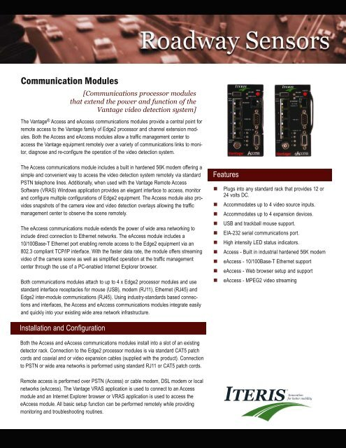 Communication Modules - Temple, Inc.