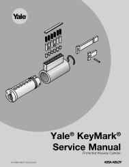 Yale® KeyMark® Service Manual - ASSA ABLOY Door Security ...
