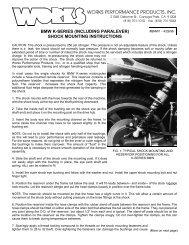 bmw k-series (including paralever) shock mounting ... - Works Shocks