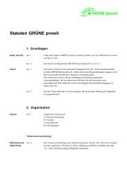 Statuten GRÜNE prowil - Grüne Kanton St. Gallen