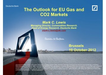 The Outlook for EU Gas and CO2 Markets - Eurogas