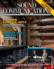Sound & Communications June 2009 Issue, Vol.55 No.6