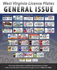 GENERAL iSSUE - West Virginia Department of Transportation