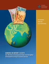 Banking on nature's assets - World Resources Institute