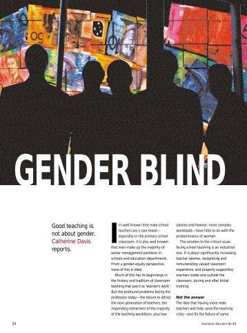 Gender blind - Australian Education Union