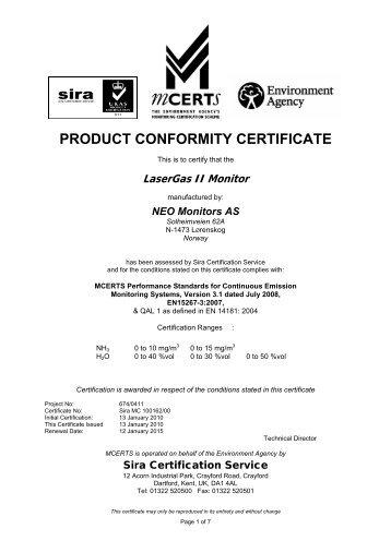 Iec  Conformity Certificate  Prisma