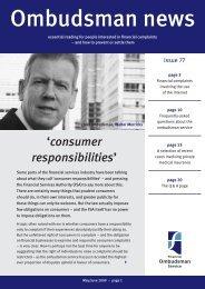 Ombudsman news - issue 77 - Financial Ombudsman Service