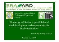 Bioenergy in Ukraine – possibilities of rural development and ...