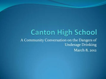 to view PowerPoint presentation. - Canton Public Schools