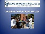 2013 Academic Orientation Session - Woodsworth College