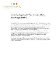 Contributi al Rapporto sul 1° Piano Strategico di ... - Torino Strategica