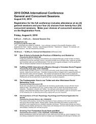 2010 Concurrent Sessions - DONA International