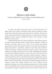 Consulta Ministeriale sulle Malattie Neuromuscolari - Ministero della ...