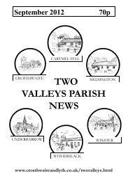 September 2012 - The Parish of Crosthwaite and Lyth