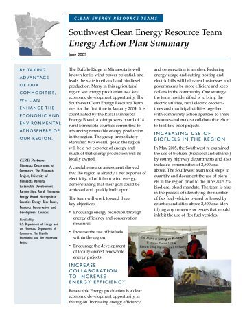 Regional Summary - Clean Energy Resource Teams