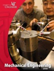 Department Head's Message - Mechanical Engineering - University ...
