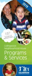 2013 Programs and Services - Collingwood Neighbourhood House