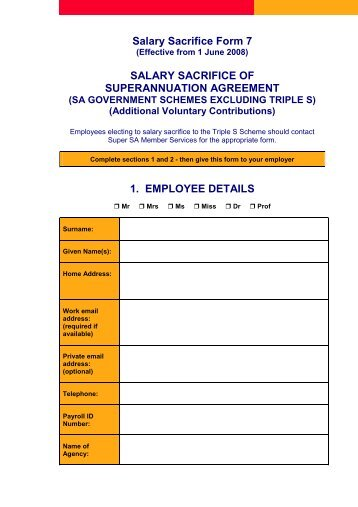 Ato Standard Choice Form Superfacts