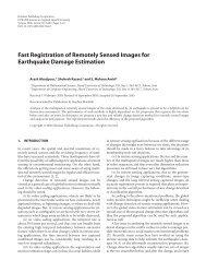 Fast Registration of Remotely Sensed Images for ... - Arash Abadpour