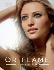 ANNUAL REPORT 2010 - Investor Relations - Oriflame