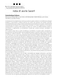 nota di avvio lavori - Torino Strategica