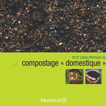Petit guide pratique du compostage domestique - Ville de Montréal