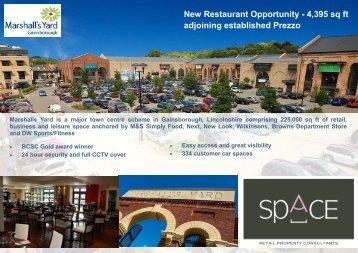 New Restaurant Opportunity - 4,395 sq ft adjoining established Prezzo
