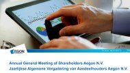 Presentation 2013 AGM Aegon N.V.