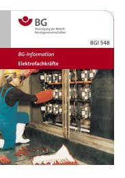 BGI 548 Elektrofachkräfte - BGHM