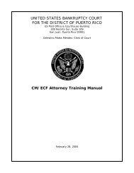 CM/ECF Attorney's Manual - District of Puerto Rico