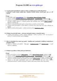 Příklady práce s daty - Co je GLOBE - Sdružení TEREZA