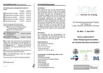 Anmeldebedingungen 28. März – 3. April 2011 Noch zu gebrauchen ...