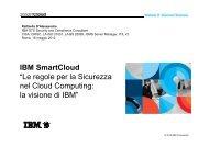 """IBM SmartCloud """"Le regole per la Sicurezza nel Cloud Computing: la ..."""