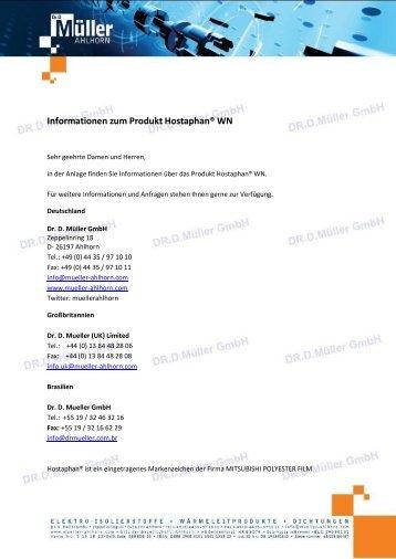 Informationen zum Produkt Hostaphan® WN - Mueller -ahlhorn