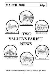 March 2010 - The Parish of Crosthwaite and Lyth