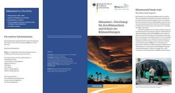 klimazwei - des Bundesministeriums für Bildung und Forschung