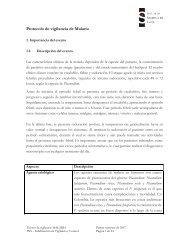Protocolo de vigilancia de Malaria - Organismo Andino de Salud