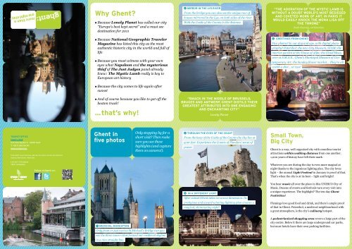 Why Ghent? …that's why! - Visit Gent