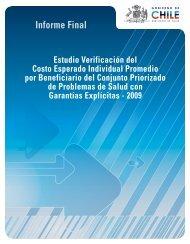 Informe Final EVC 2009 - Departamento de Economía de la Salud ...