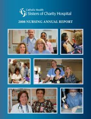 2008 NursiNg ANNuAl report - Catholic Health System
