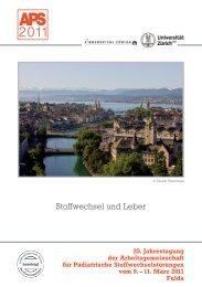 Programm JT2011 - Arbeitsgemeinschaft für Pädiatrische ...