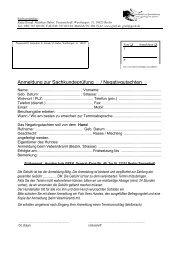 Fragebogen zur Anmeldung - Hundeschule GREH