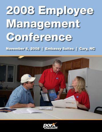 2008 Employee Management Conference - North Carolina Pork ...