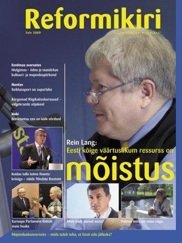 Reformikiri talv 2009 - Reformierakond